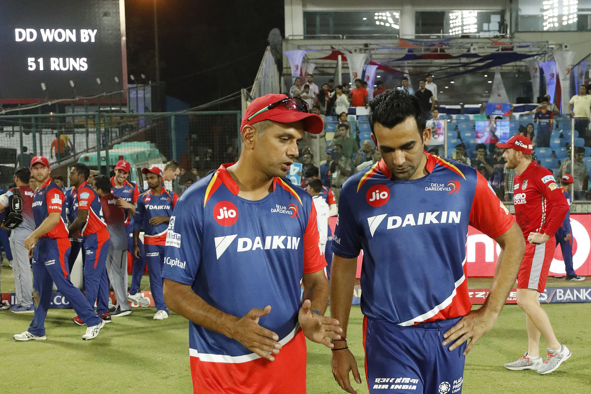 DD Coach Rahul Dravid with captain Zaheer Khan. (Photo: BCCI)