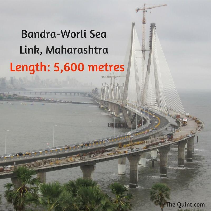 "(Photo Courtesy:<a href=""https://commons.wikimedia.org/wiki/File:Bandra-Worli_Sea_Link_from_Taj_Lands_End.JPG""> Wikimedia Commons</a>/Joe Ravi)"