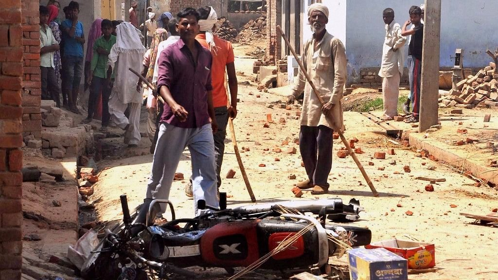 File photo of the violence in Saharanpur. (Photo: PTI)