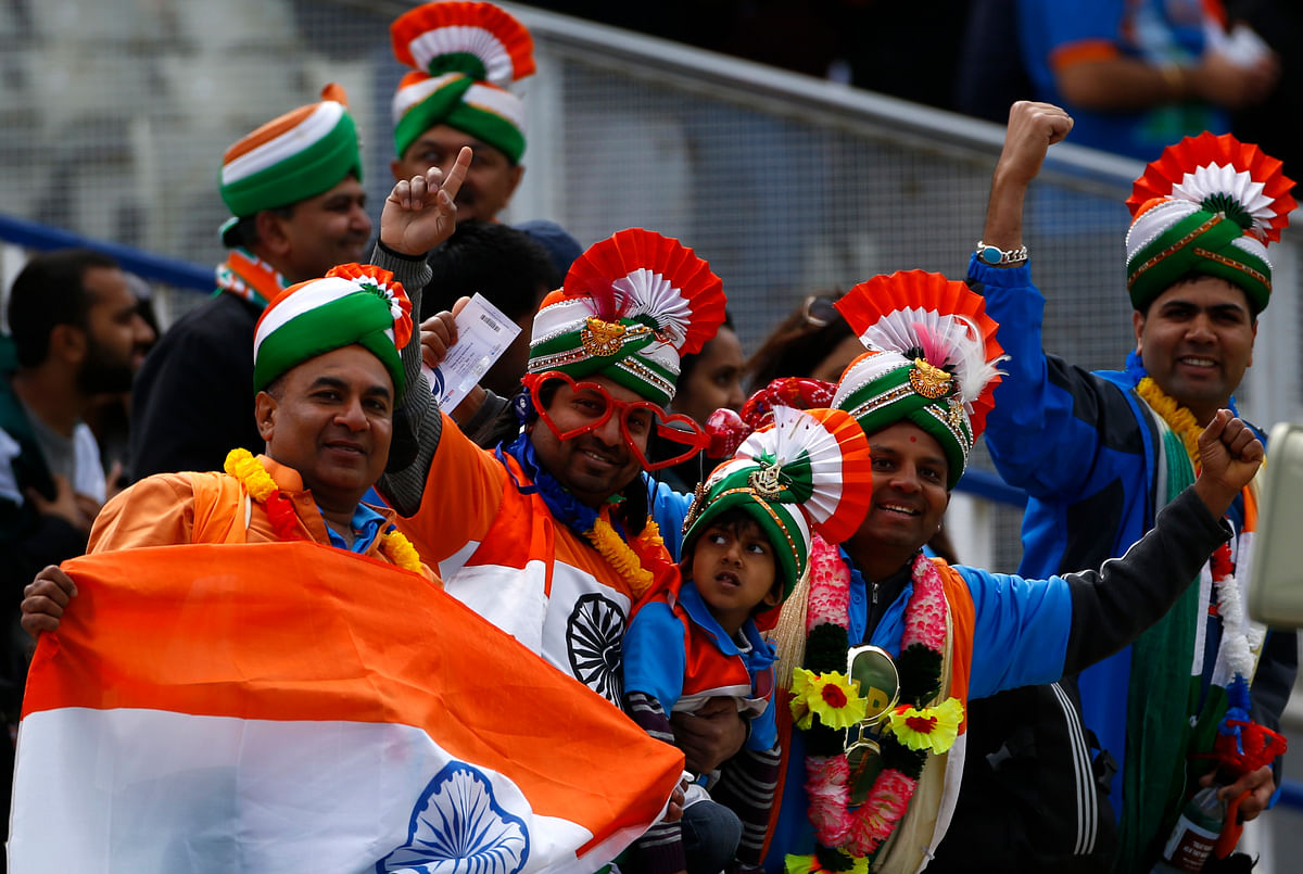 Indian fans cheer their team during a match against Pakistan in the 2013 Champions Trophy in Birmingham. (Photo: Reuters)