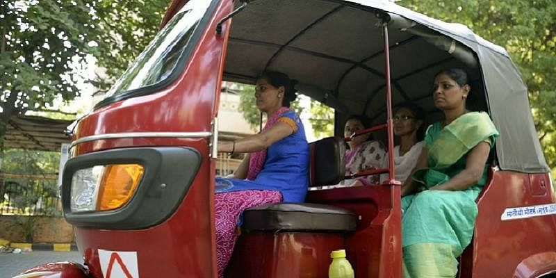 "Representational image of a woman auto driver in Mumbai. (Photo courtesy: <a href=""https://www.facebook.com/indianeaglellc/"">Facebook/ indianeaglellc</a>)"
