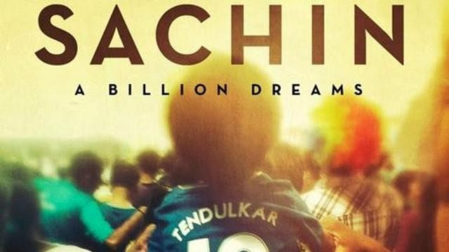 Poster of Sachin's biopic. (Photo courtesy: Twitter)