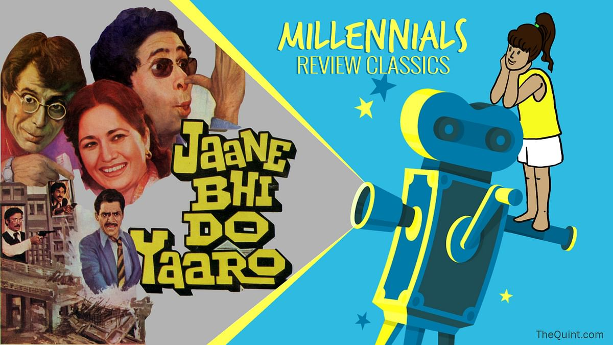 Kundan Shah's <i>Jaane Bhi Do Yaaro </i>reviewed by a millennial. (Photo: <b>The Quint</b>)