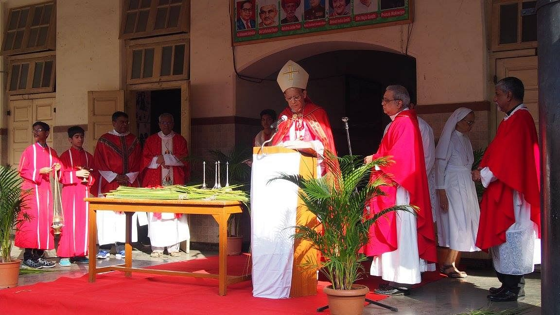 "Celebration of Palm Sunday this year at the archdiocese of Bombay. (Photo courtesy: <a href=""https://www.facebook.com/pg/ArchdioceseBombay/photos/?ref=page_internal"">Facebook: ArchdioceseBombay</a>)"