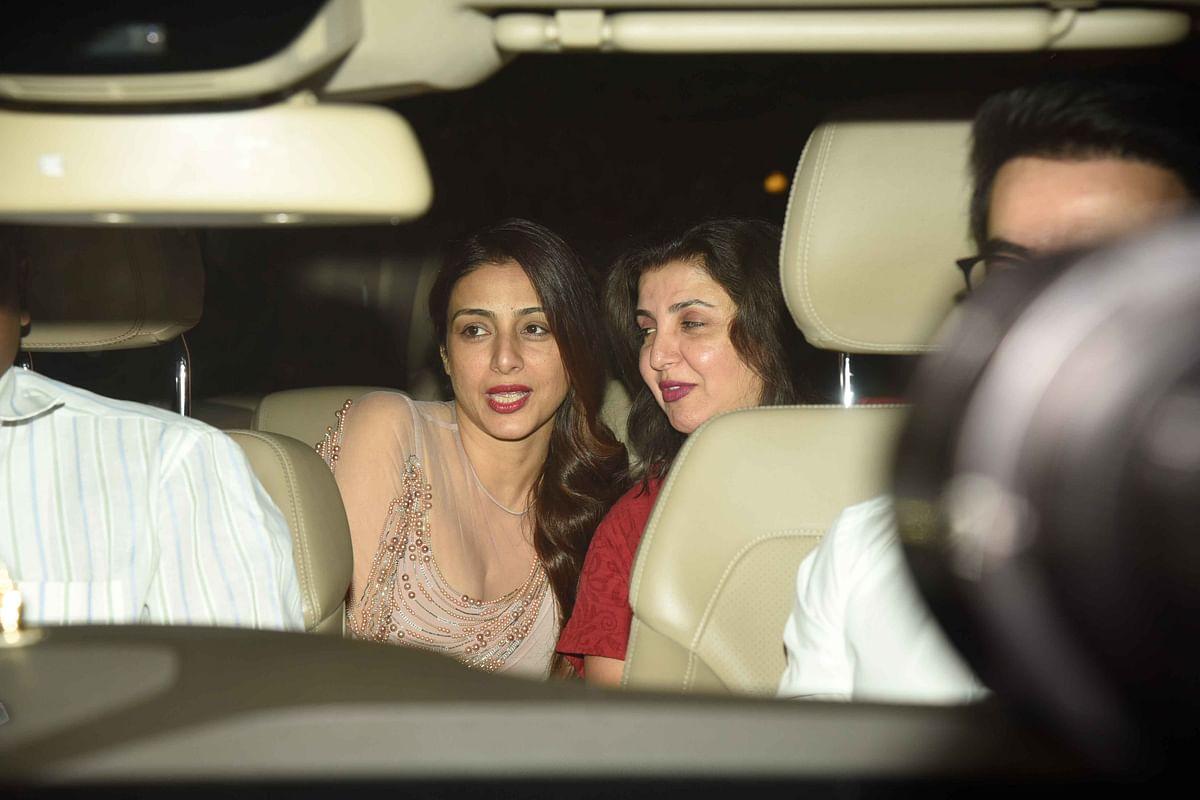 Tabu arrives with Farah Khan. (Photo: Yogen Shah)