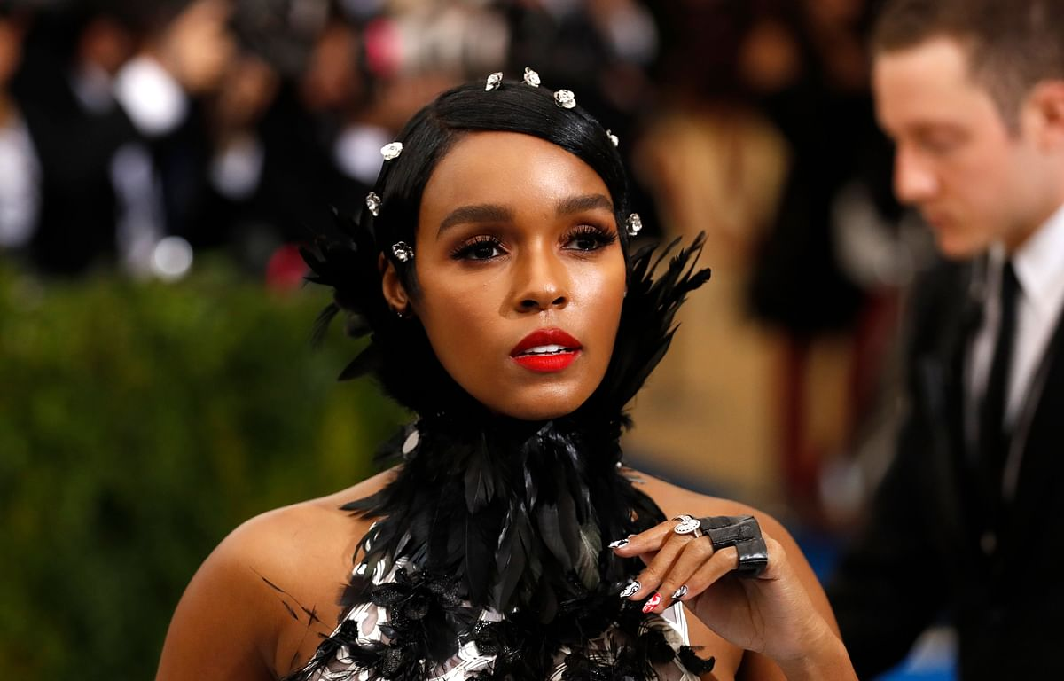 Janelle Monae turns heads in a Ralph and Russo tulle and feathered dress. (Photo: Reuters)