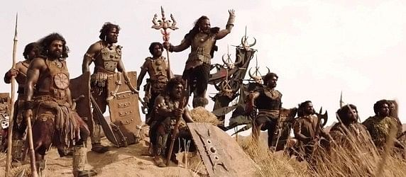 The Kalakeyas, the villains of the film, were portrayed as dark, ugly monsters; savages who did not understand the beautiful civility of the caste system. (Photo courtesy: Dharma Productions)