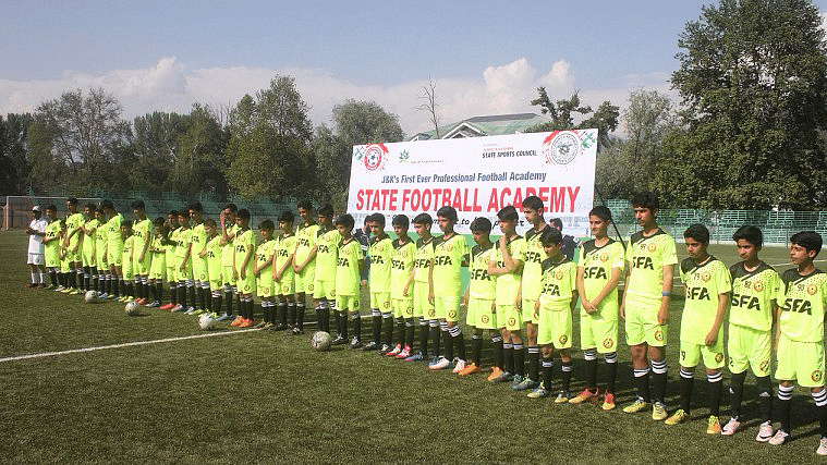 "J&amp;K first professional football academy (Photo: <a href=""https://twitter.com/odishasuntimes"">Odisha Sun Times</a>)"