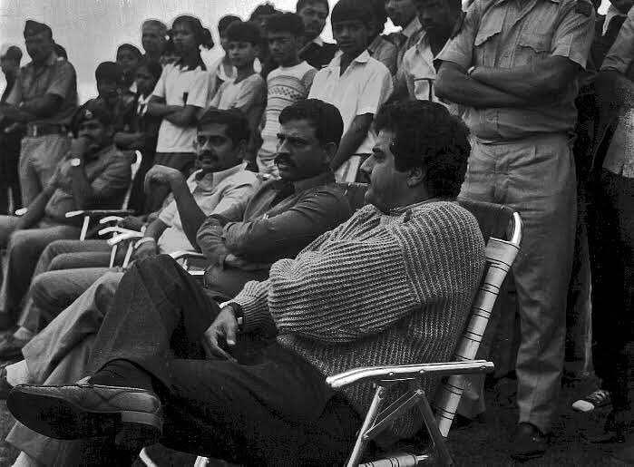 Producer Boney Kapoor on the <i>Mr India </i>set. (Photo courtesy: <i>Mr India</i> Team)