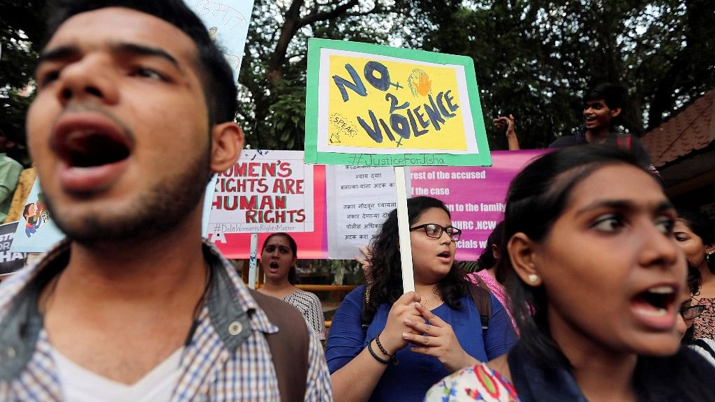 Representational image from a protest to stop sexual abuse against women.