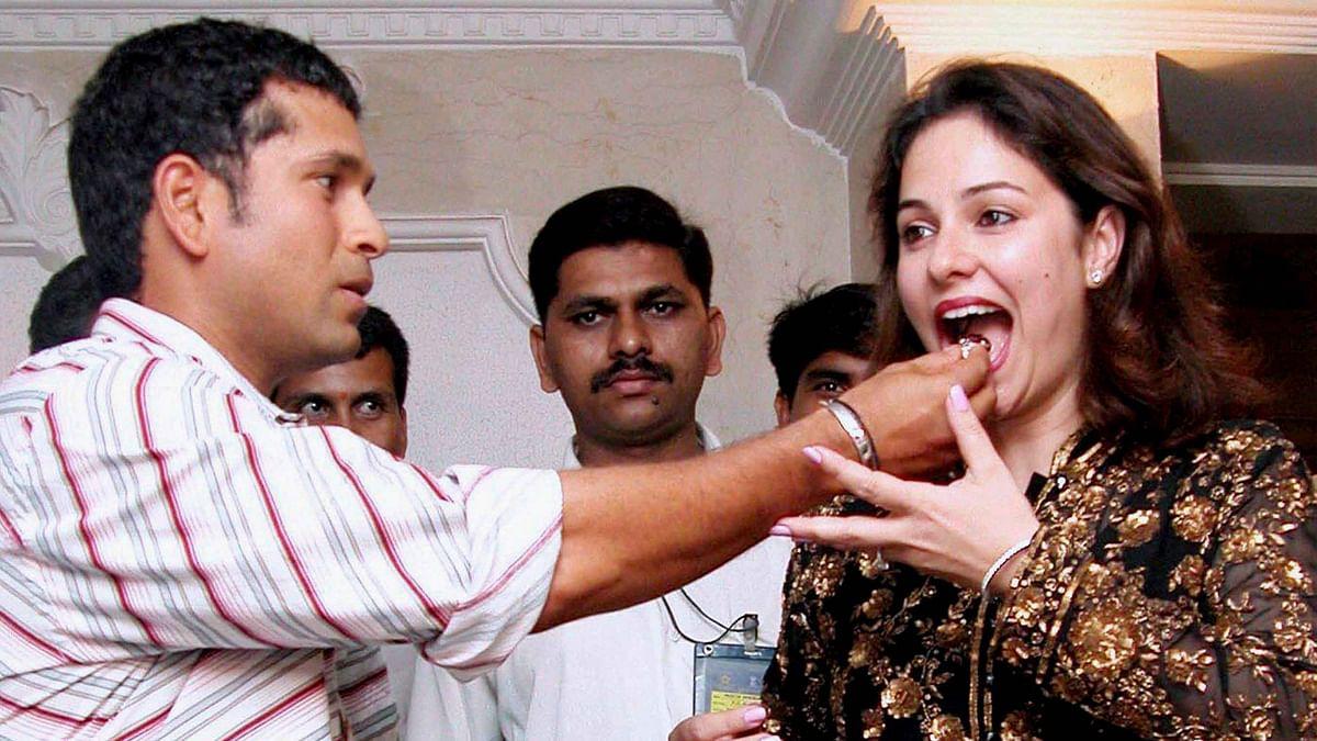 File photo of Sachin Tendulkar (L) and his wife Anjali Tendulkar (R). (Photo: PTI)