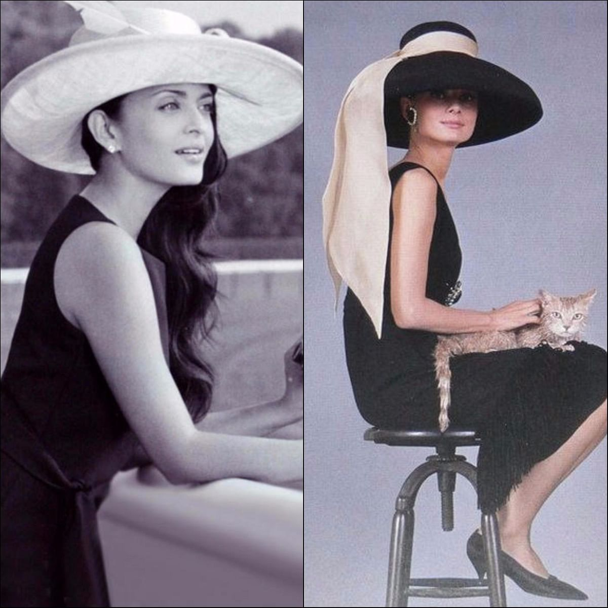 "<div class=""paragraphs""><p>Elegance is more than just an attitude. Aishwarya Rai Bachchan (L), Audrey Hepburn (R)</p></div>"