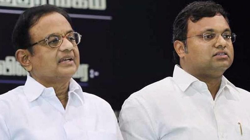 Former Union Minister P Chidambaram and his son Karti.