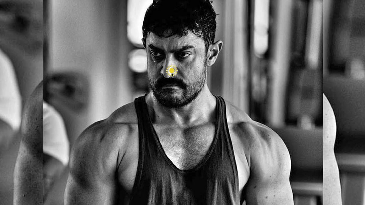 Is Aamir Khan's new nose pin look for his next film <i>Thugs of Hindostan</i>? (Photo courtesy: UTV Motion Pictures; altered by The Quint)