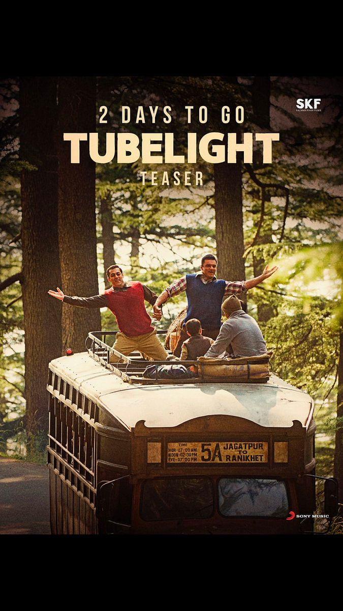 "Salman and Sohail in the poster of Tubelight. (Photo courtesy: <a href=""https://twitter.com/kabirkhankk"">Twitter/KabirKhan</a>)"