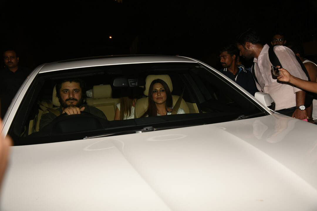 Sonal Bendre with hubby  Goldie Behl. (Photo: Yogen Shah)
