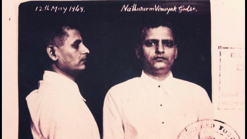 Mugshot of Nathuram Godse.