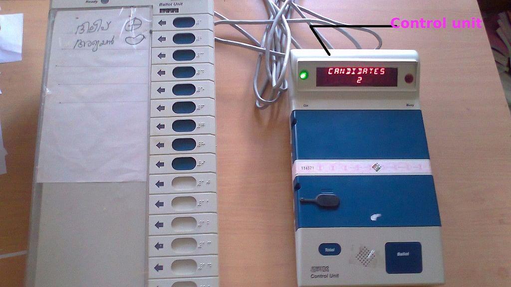 Representative image of an EVM machine.