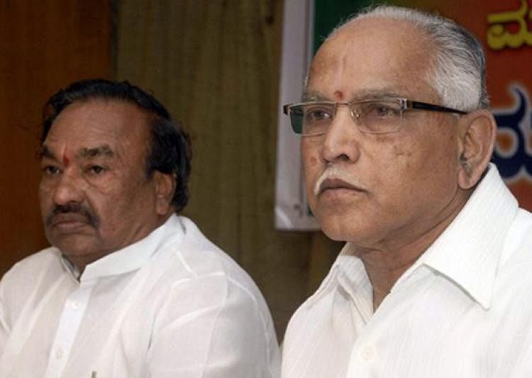 What began as a tiff between BS Yeddyurappa (right) and KS Eshwarappa (left) has taken a turn for the worse.