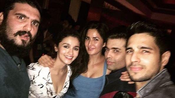 Alia Bhatt with Katrina, Karan and Sid. (Photo courtesy: Instagram)