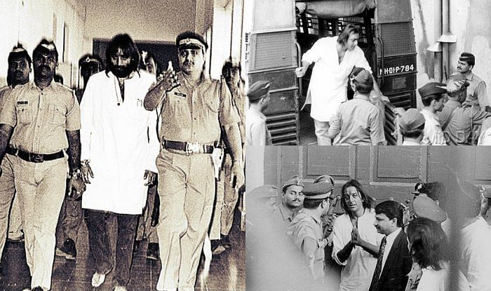 Photos of Sanjay Dutt being first arrested in 1993.