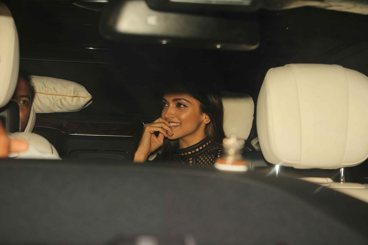 Deepika Padukone looks eager to join the party. (Photo: Yogen Shah)