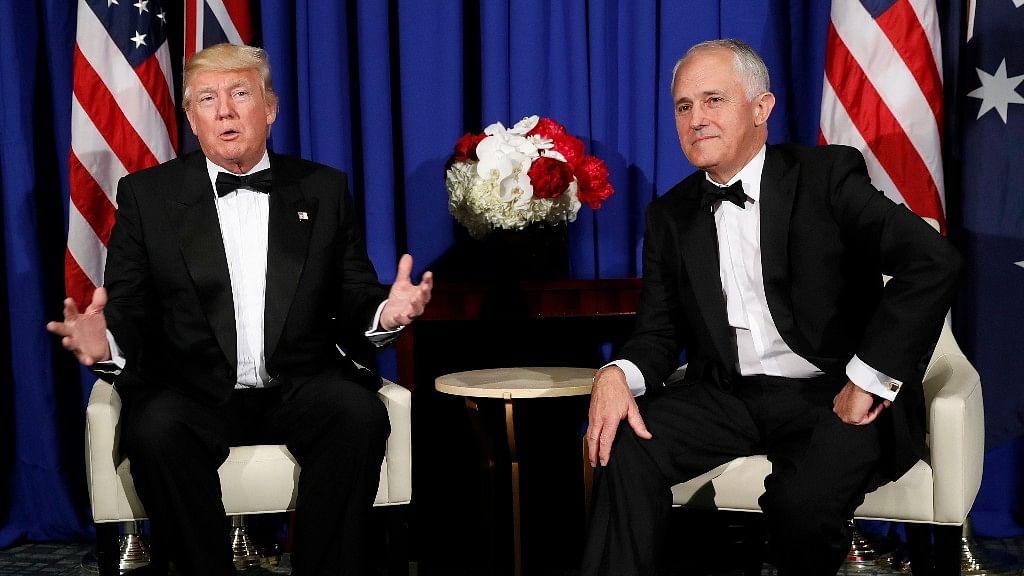 US President Donald Trump (left) and Australian PM Malcolm Turnbull (Photo: AP)
