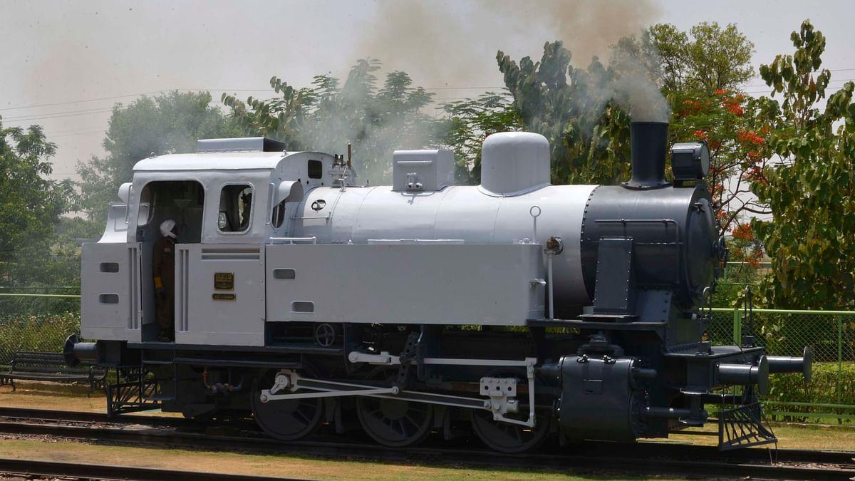A 1953 Jung Steam locomotive showcased at the Heritage Transport Museum (Photo: Anasuya Basu)