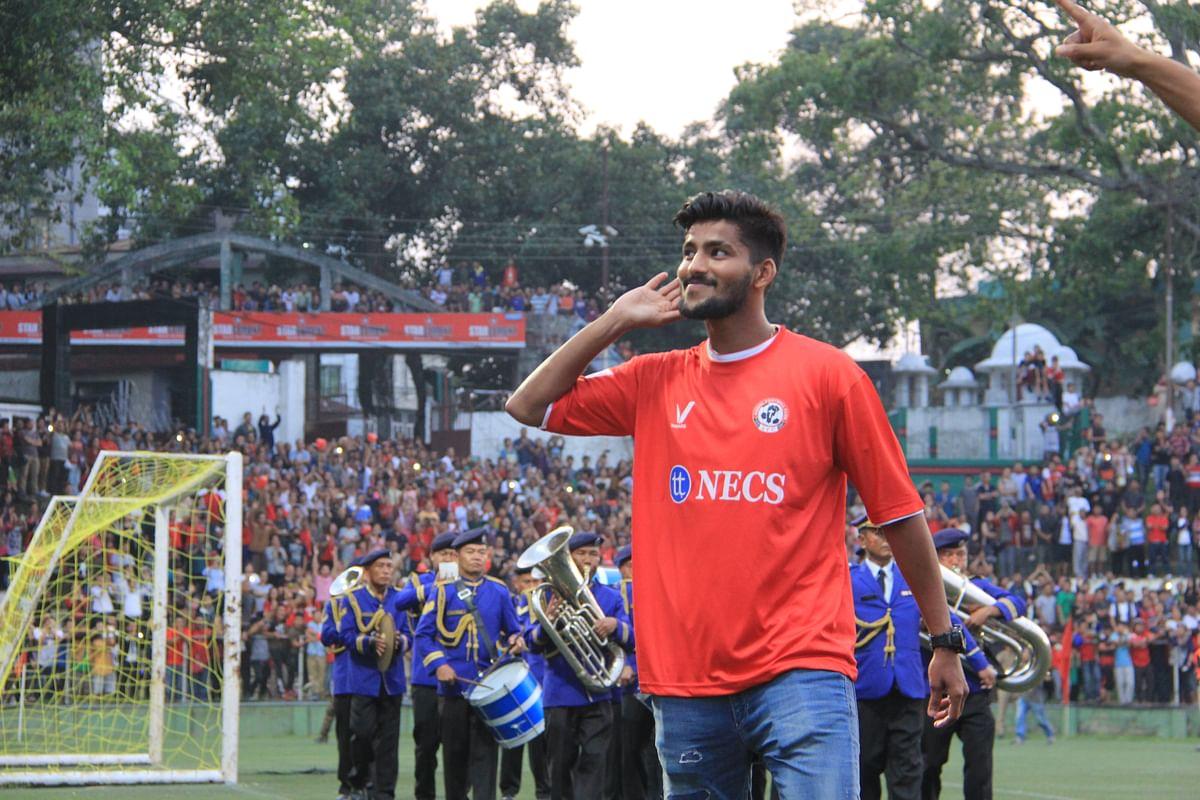 Jayesh Rane during the celebrations. (Photo: Lawm Kima Tlau)