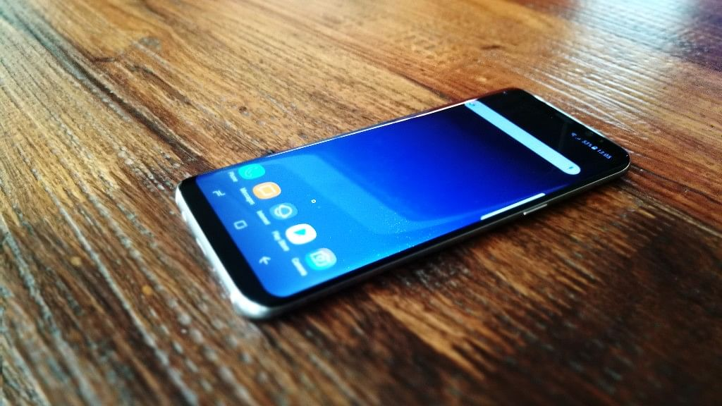 The Samsung Galaxy S8 gets a 5.8-inch bezel-less display. (Photo: <b>The Quint</b>)