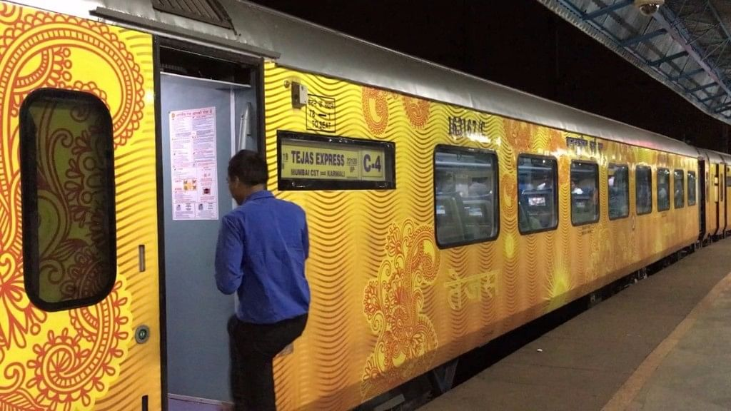 Tejas Express was flagged off by Railways Minister Suresh Prabhu on 22 May amid much excitement. (Photo: BloombergQuint)