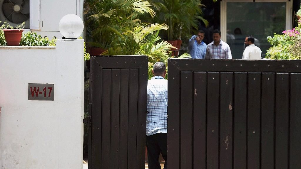 The residence of founder and executive chairman of NDTV, Prannoy Roy, where the Central Bureau of Investigation (CBI) conducted raids in connection with a case in New Delhi on Monday. (Photo: PTI)