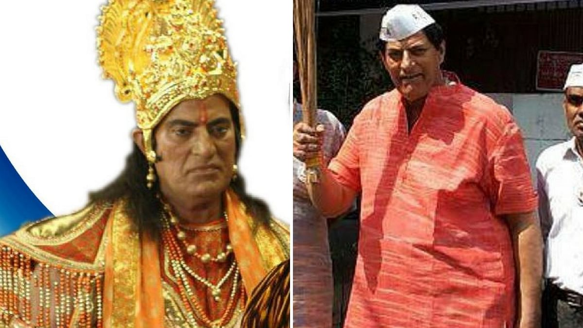 Praveen Kumar as Bheem in 'Mahabharata'. (Photo Altered by <b>The Quint</b>)