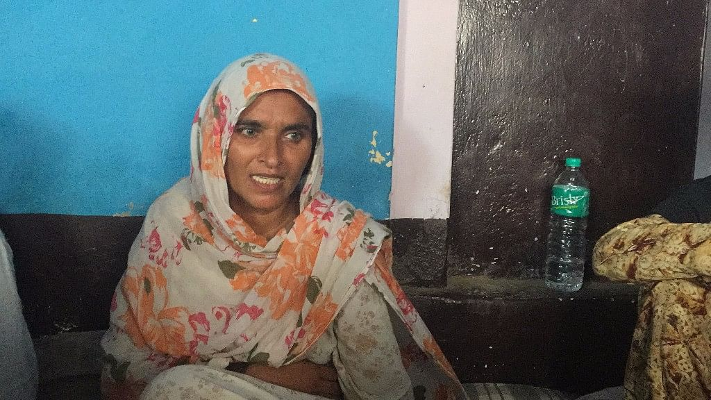 Junaid's mother Saira Bano at her home in Ballabgarh.