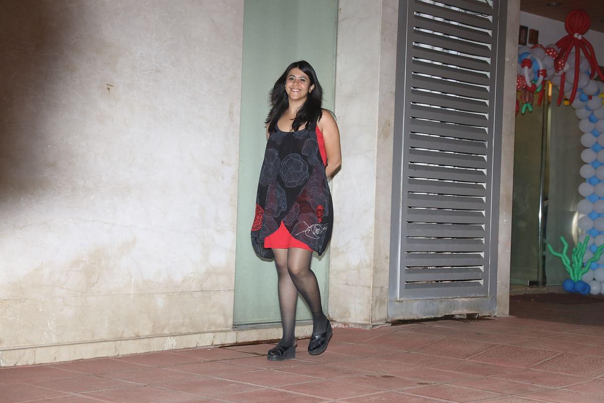 Ekta Kapoor smiles at the camera. (Photo: Yogen Shah)