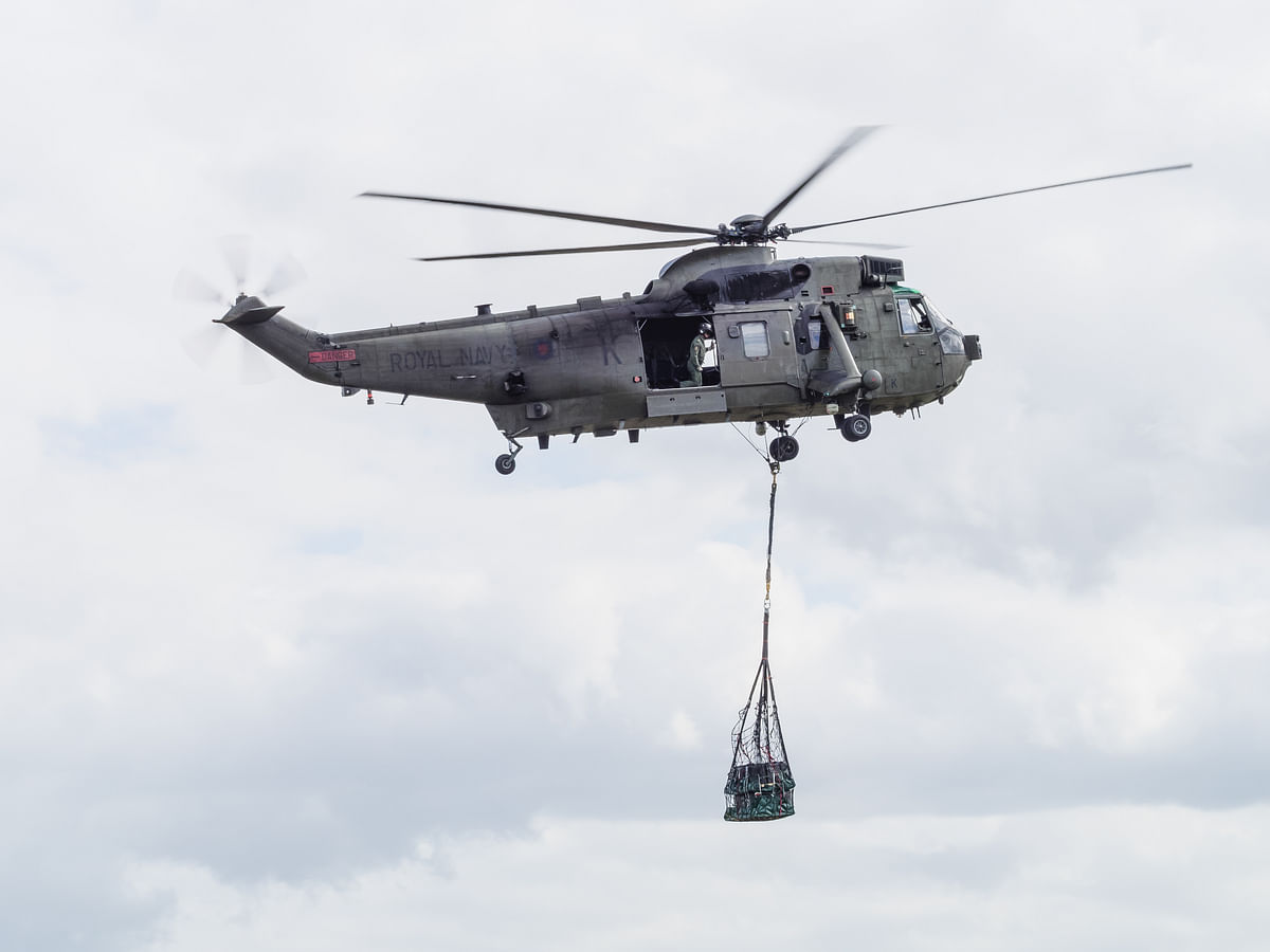 A Royal Navy Sea King helicopter. (Photo: iStock)