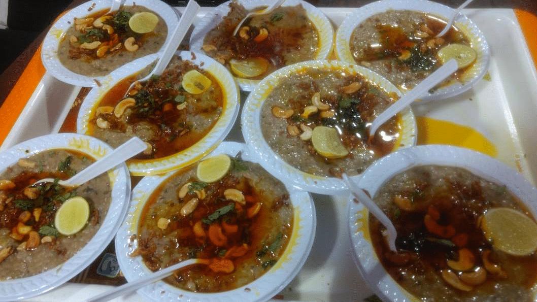 "Biryani takes a back seat during Ramadan in favour of haleem, a porridge-like dish made of wheat, lentils and meat. (Photo Courtesy: Twitter/<a href=""https://twitter.com/DivyaYadavK"">@DivyaYadavK</a>)"
