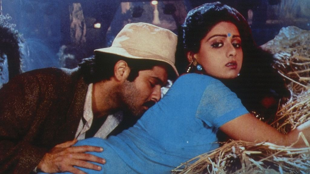 Anil Kapoor and Sridevi in a still from <i>Mr India</i>.