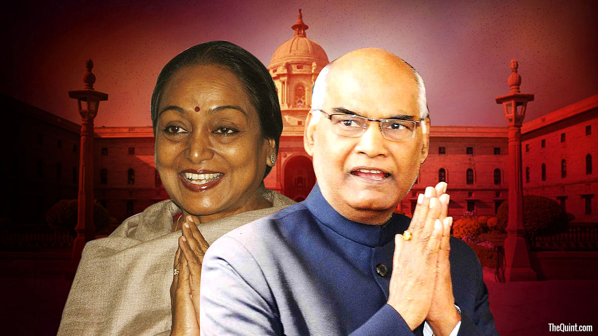 It's Dalit versus Dalit in the race to Rashtrapati Bhavan as the Congress-led Opposition parties chose former Lok Sabha speaker Meira Kumar as their nominee.