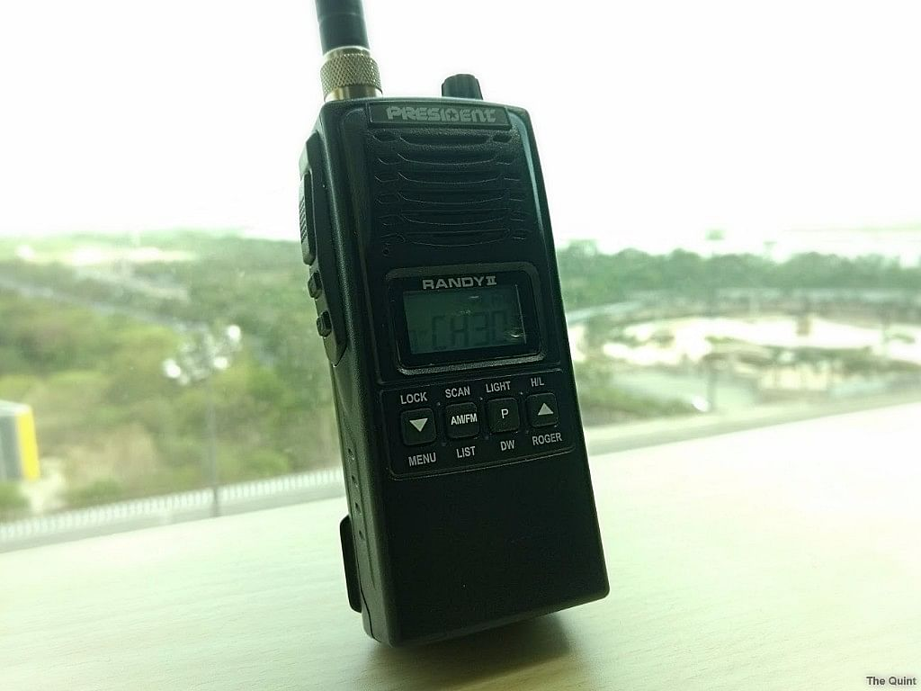 The President Randy II is a hand-held CB Radio that can also be used with an external car antenna. (Photo: <b>The Quint</b>)