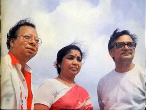 RD Burman, Asha Bhosle and Gulzar.
