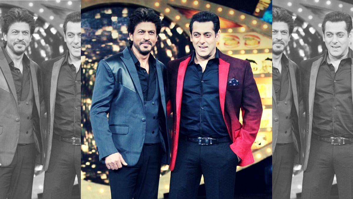 Shah Rukh Khan with Salman Khan. (Photo: Yogen Shah)