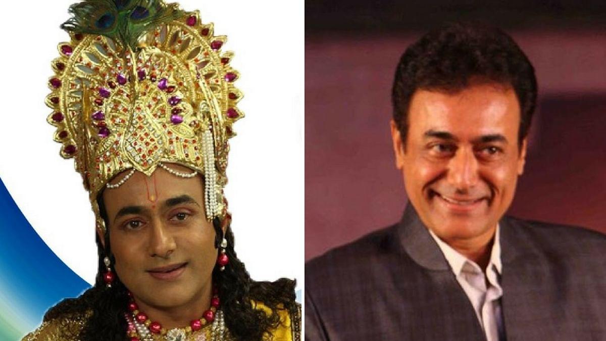 Nitish Bharadwaj as Krishna in 'Mahabharata'. (Photo Altered by <b>The Quint</b>)