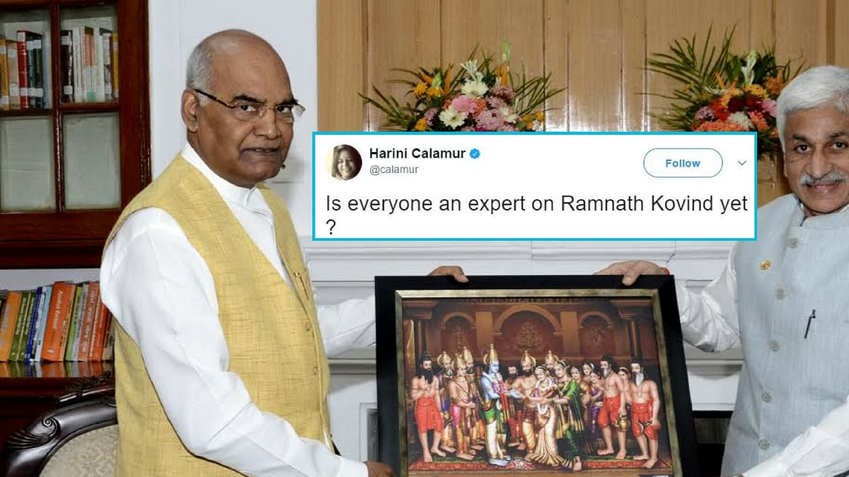 Ram Nath Kovind's nomination for the post of President sent Twitter into a tizzy. (Photo: Altered by<b> The Quint</b>)