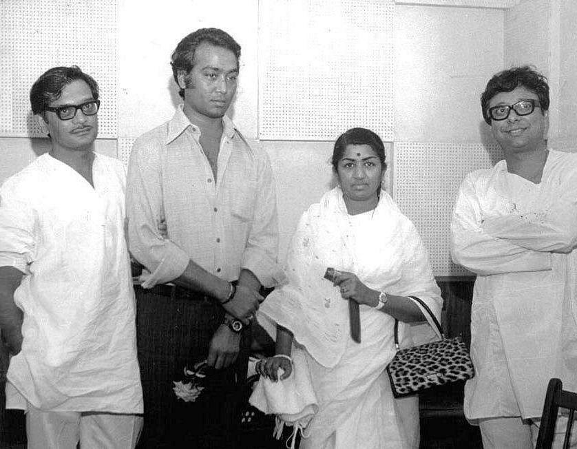 Gulzar, Bhupendra, Lata Mangeshkar and RD Burman.