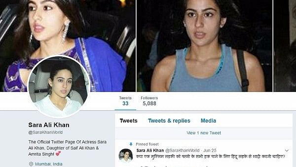 It is not clear whether the individuals following the account know that it is a fake account.