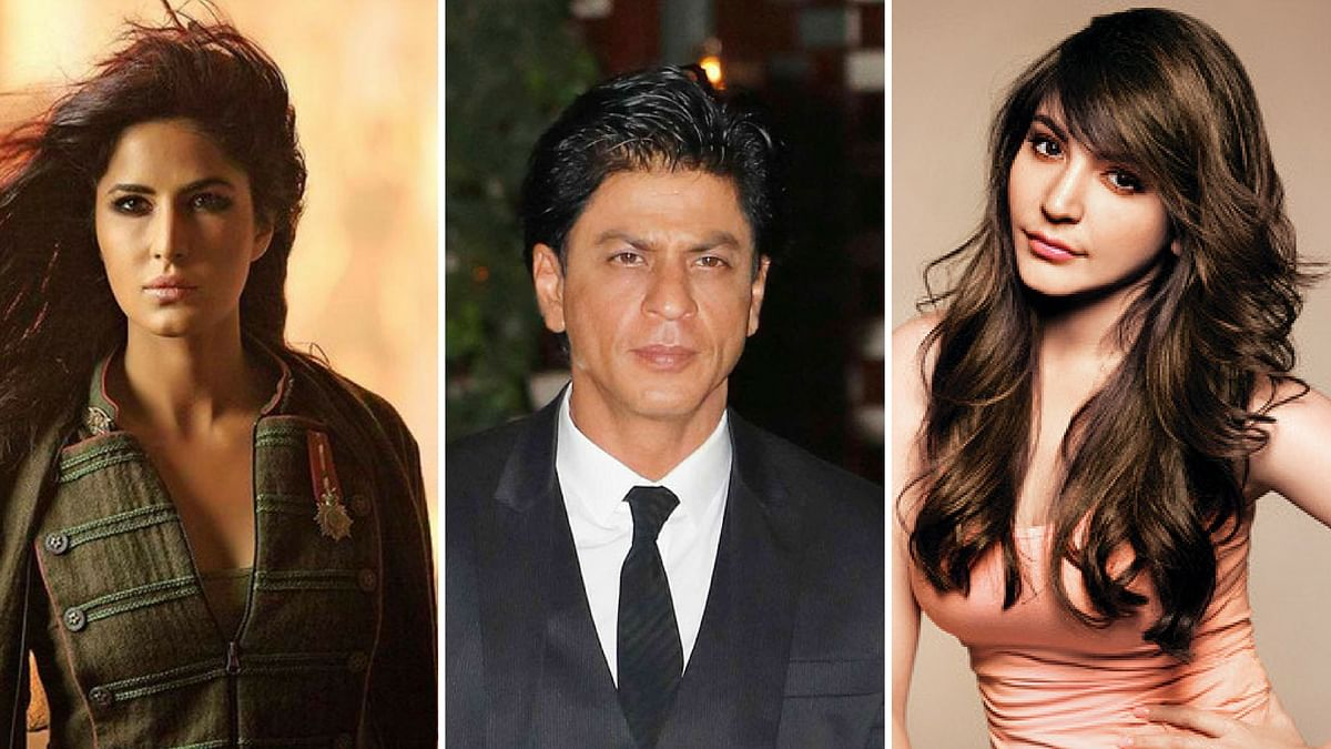 SRK, Katrina an Anushka in one film! (Photo courtesy: Twitter/altered by The Quint)