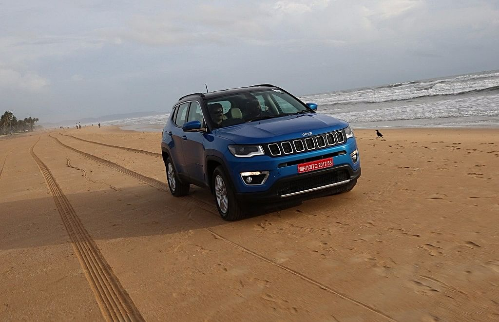 The Jeep Compass is quite capable in varied terrain with its Selec-Terrain all-wheel drive system.