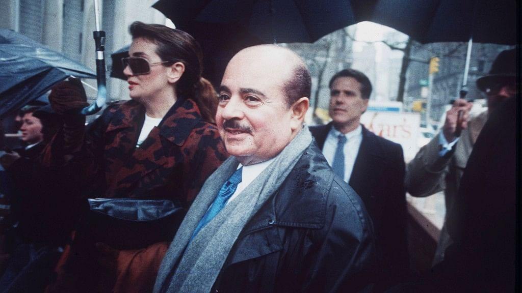 Adnan Khashoggi at Manhattan Federal Court, New York, 1990. (Photo: AP)