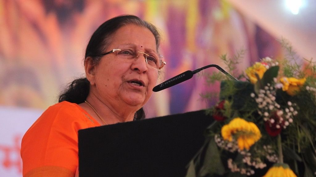 Former Lok Sabha Speaker Sumitra Mahajan.